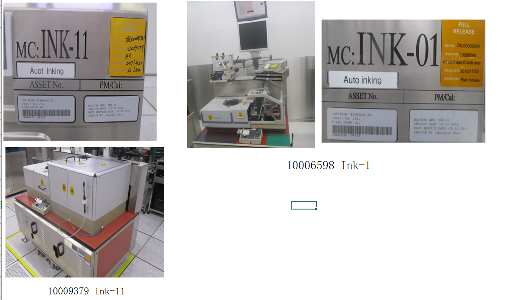 Wafer inker machine